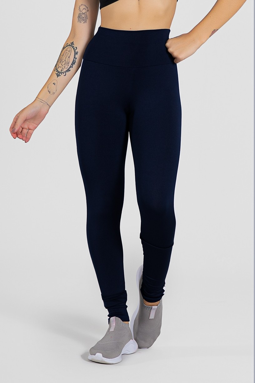 Calça Legging com Listras (Azul Marinho / Branco) | Ref: KS-F17-002