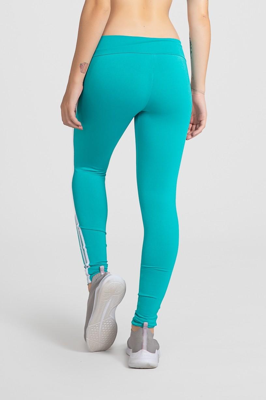 Calça Legging com Listras (Verde Esmeralda / Branco)   Ref: KS-F17-006