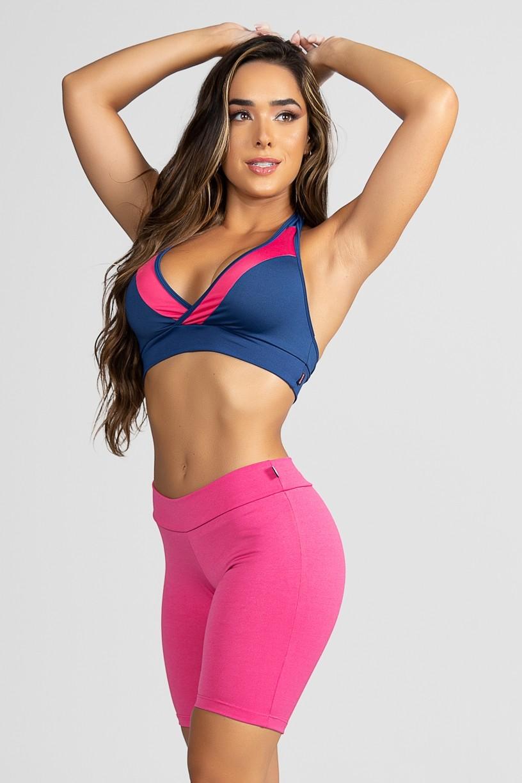Top Suplex (Azul Marinho / Rosa Pink) | Ref: KS-F20-008