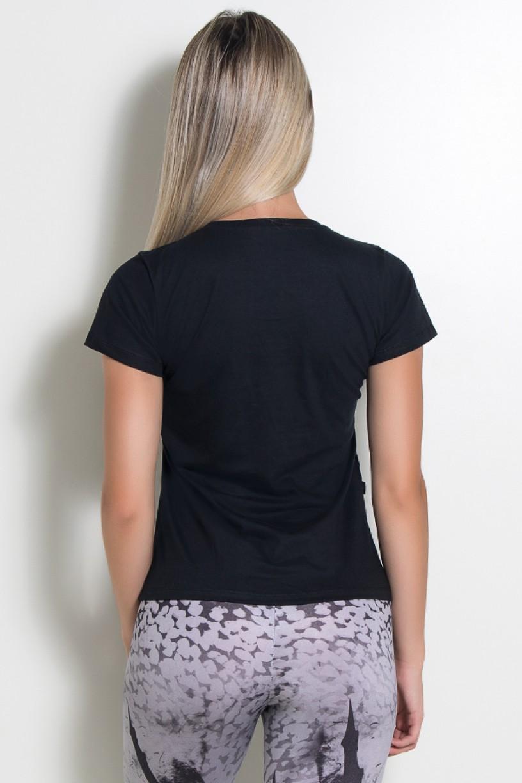 Camiseta Feminina Lift Run and be Merry (Preto) | KS-F236-003