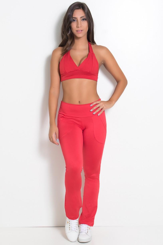 Top Isadora Liso (Vermelho) | Ref: KS-F260-008