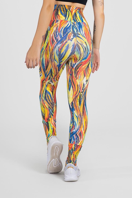 Legging Estampada Abstrato Fluor 3 | Ref: F27-003