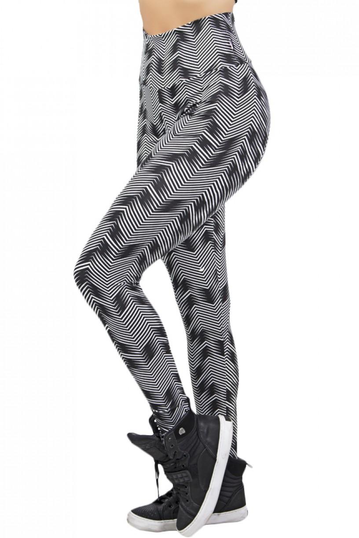 Legging Estampada (Setas Brancas com Preto)   Ref: KS-F27-121