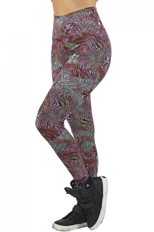 Legging Estampada Ondulado Colorido | Ref: CA479