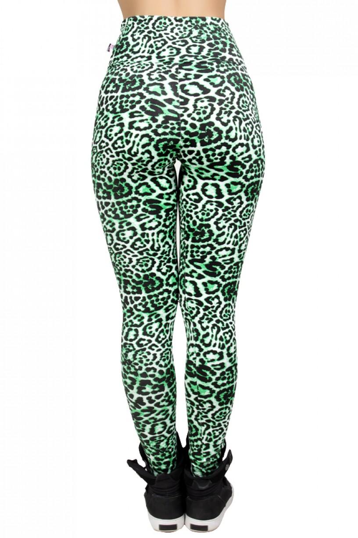 Legging Estampada Oncinha Verde com Preto | Ref: CA443