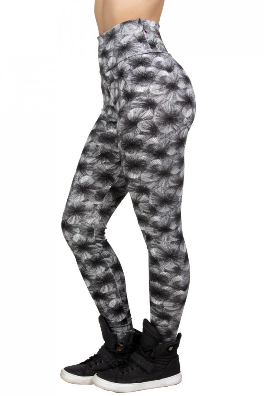 Legging Estampada Branco com Listras Pretas | Ref: CA452