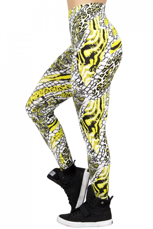 Legging Estampada Escama Branca com Flúor | Ref: CA283