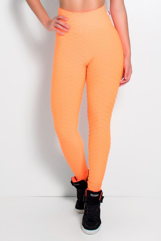 Legging Tecido Bolha Fluor (Laranja Fluor)   Ref: KS-F300-003