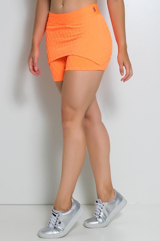Short Saia Paola Bolha Fluor (Laranja Fluor)   Ref: KS-F417-003