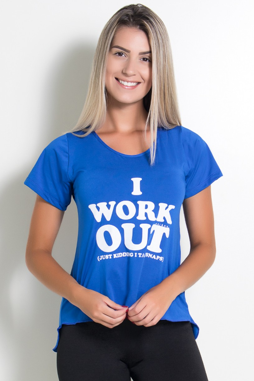 Camisa Paloma Microlight I Work Out (Azul Royal) | Ref: KS-F430-001