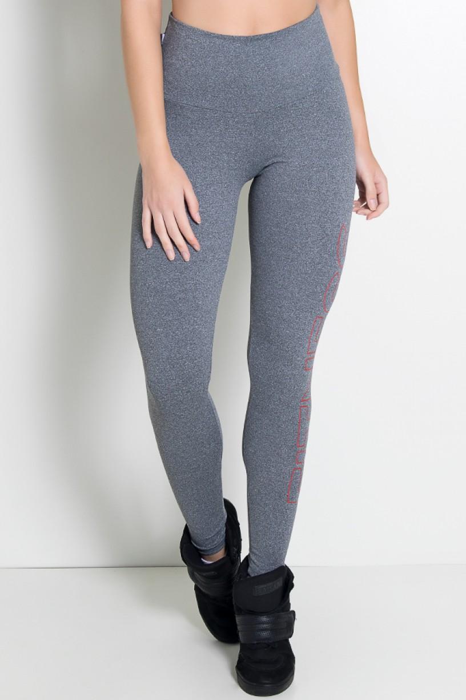 Legging Mescla Cós Alto (Fitness Kaisan em Movimento) (Mescla / Vermelho) | Ref: KS-F459-002