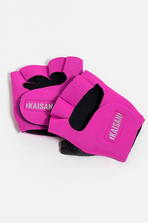 Luva para Academia Unissex (Rosa Pink) | Neoprene | Logo Refletiva Kaisan | (O Par) | Ref: KS-F48-002
