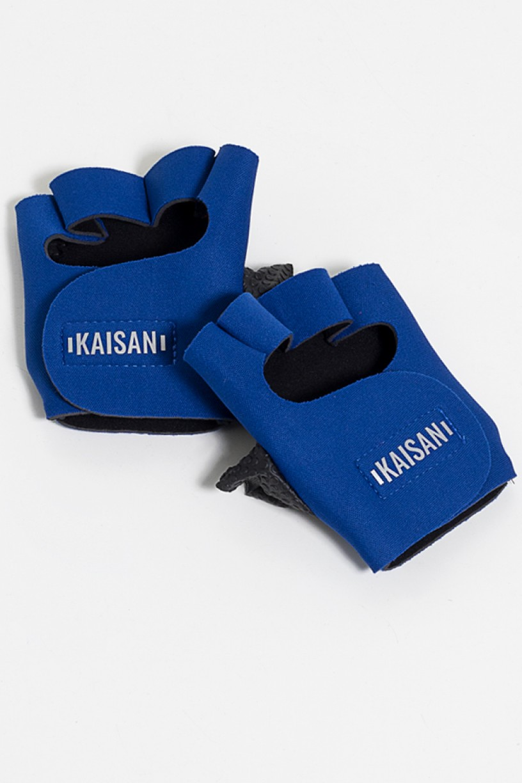 Luva para Academia Unissex (Azul Royal)   Neoprene   Logo Refletiva Kaisan   (O Par)   Ref: KS-F48-003