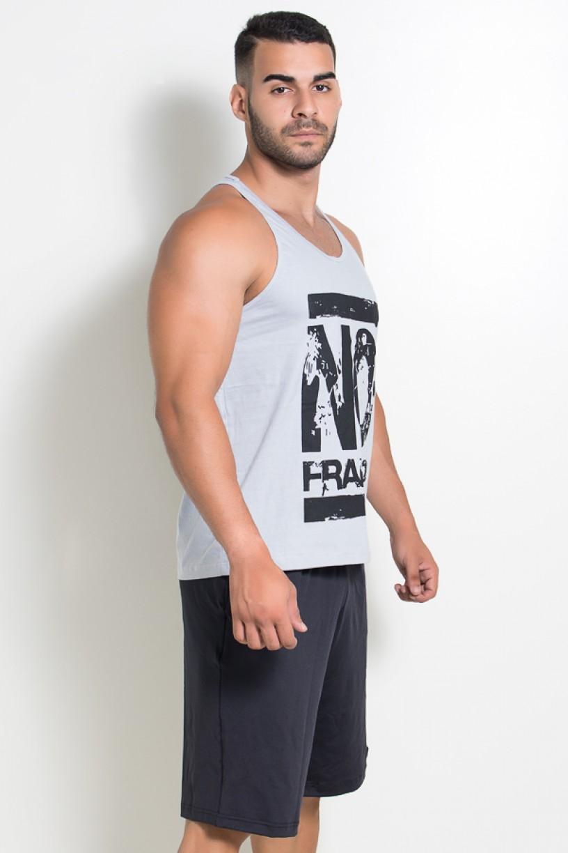 Camiseta Regata (No Frango) (Cinza) | Ref: KS-F525-004