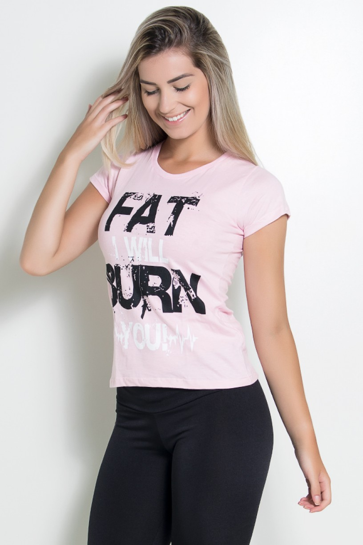 Camiseta Feminina Fat I Will Burn You | Ref: KS-F704