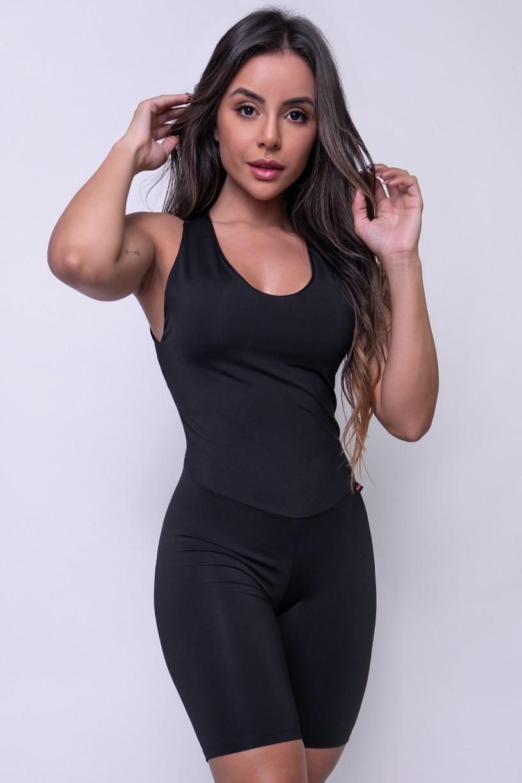 Macaquinho Fitness Nathália (Preto) | Ref: KS-F83-002