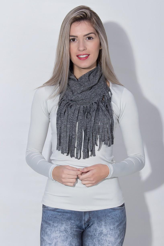 Cachecol Mescla com Franja | Ref: KS-F1821-001