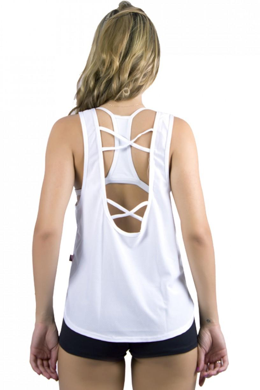 Camiseta Fitness Dry Fit Trançada (I Work Out)   Ref: KS-F307