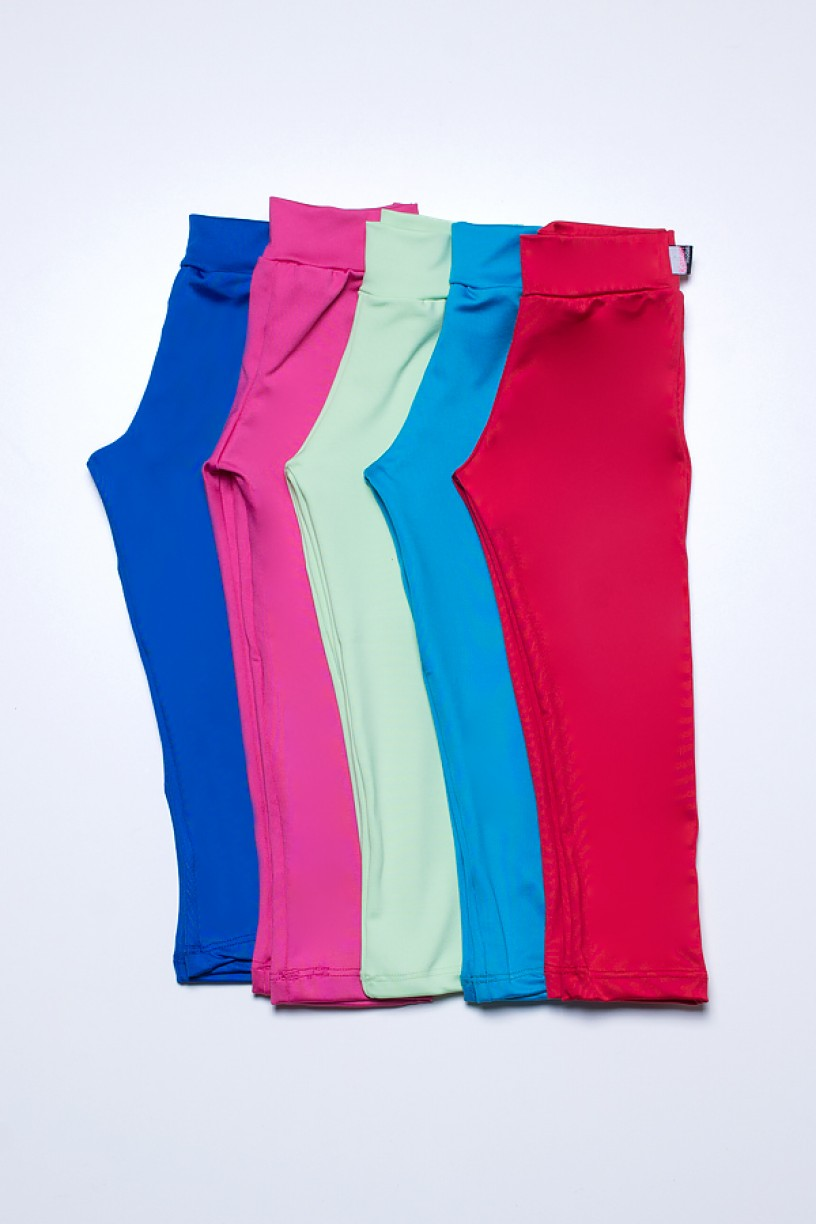 Kit com 5 (cinco) Leggings Infantis Cores Variadas (P) | Ref: KS-KI07-001