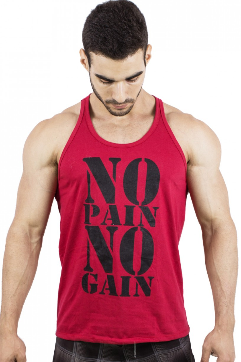 Camiseta Regata (No Pain No Gain) | Ref: F524