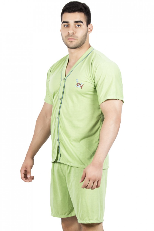 Pijama Masculino de Botão e Short 168 | Ref: P96