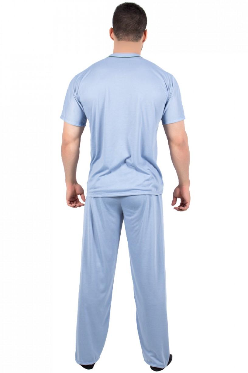 Pijama Masculino Manga Curta com Botões e Calça 175 | Ref: P97