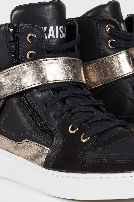 Sneaker Unissex Preto com Dourado   Ref: T33