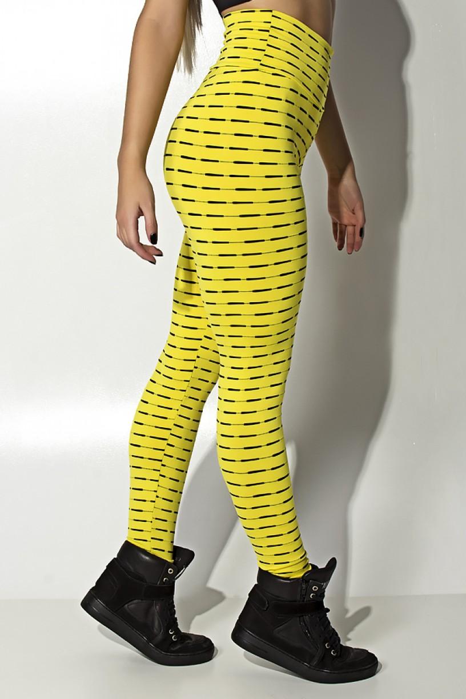 Calça Legging Mini Mesh (Amarelo)