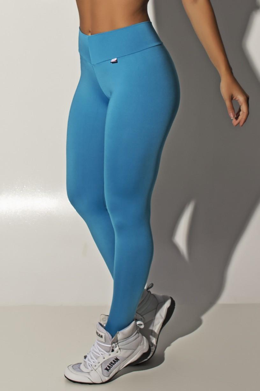 Calça Amanda com Cós em V (Azul Celeste) | Ref: KS-F712-002