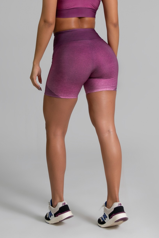 Short Fitness Meia Perna Estampa Digital Fashion Rose | Ref: GO334