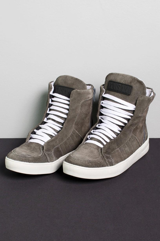 Sneaker Camurça com Fecho (Cinza Escuro) | Ref: KS-T54-001