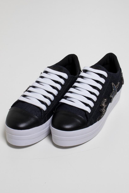 Tênis Bruni Patch (Jeans) | Ref: KS-T74-001