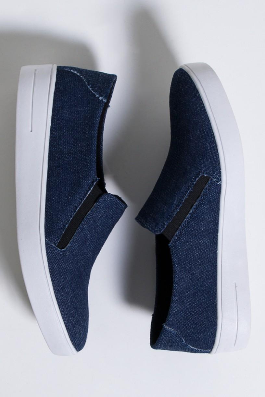 Tênis Slipper Lona Jeans (Jeans / Branco) 786-03 | Ref: KS-T81-001