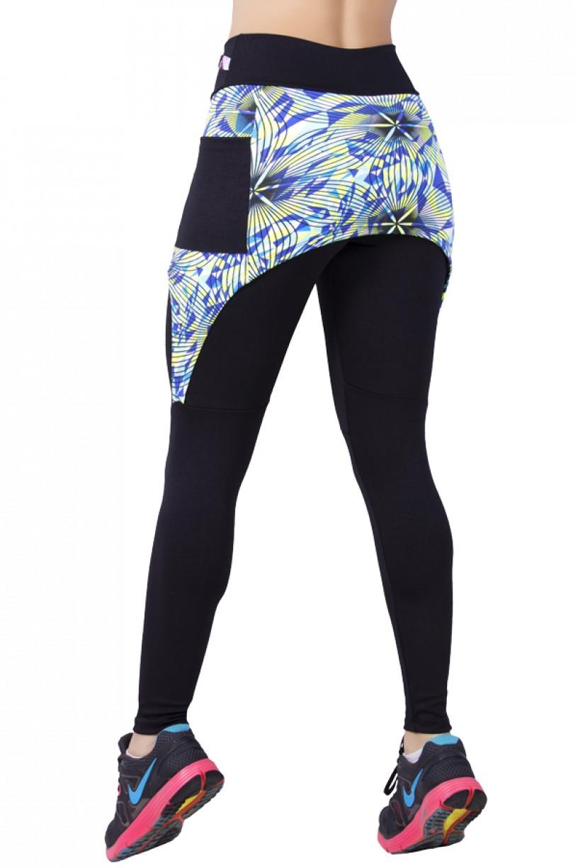 Legging Lisa com Tapa Bumbum Estampado e Bolso | Ref: F674