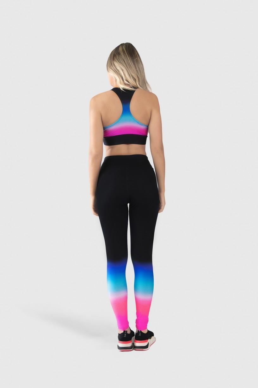 Top Nadador Fitness Estampa Digital Pink Blue Gradient | Ref: GO180