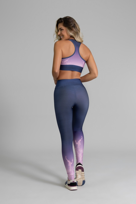Top Nadador Fitness com Viés Estampa Digital Light Purple | Ref: GO359