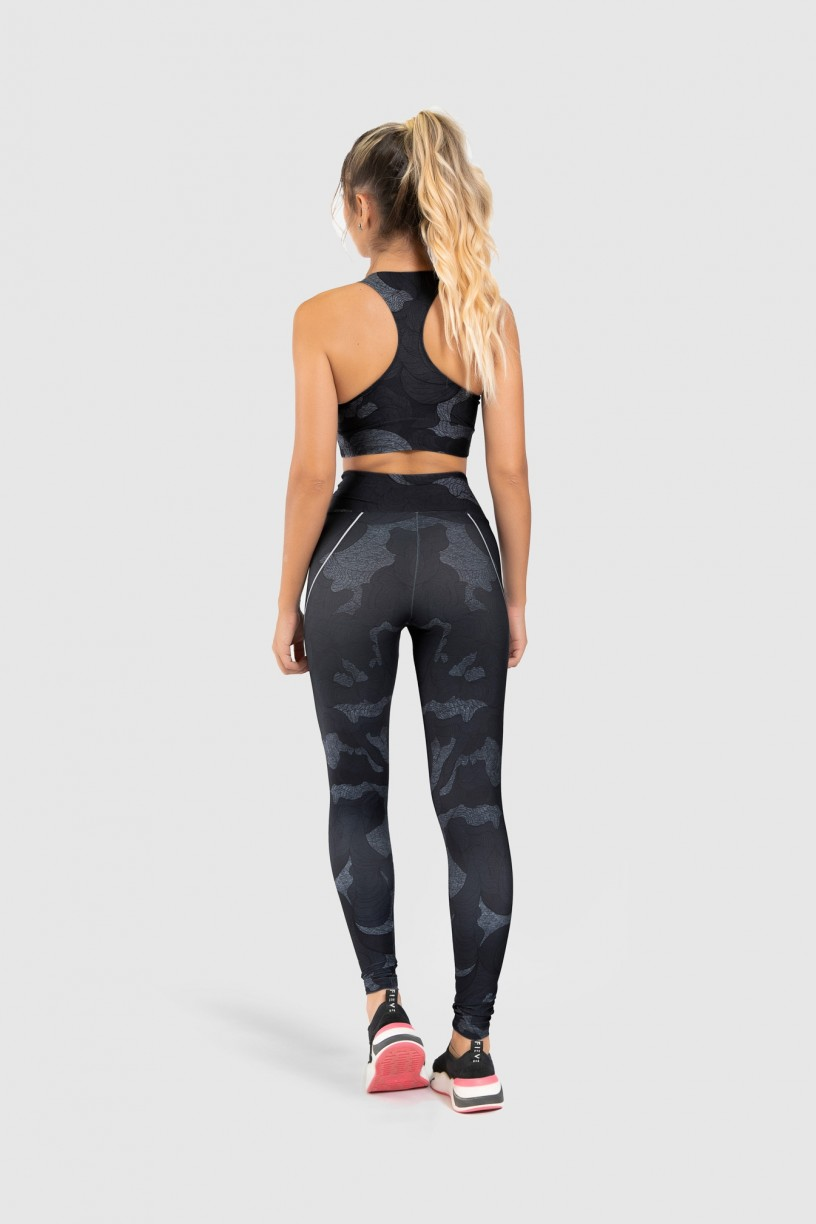 Top Nadador Fitness Estampa Digital Abstract Waves | Ref: GO184