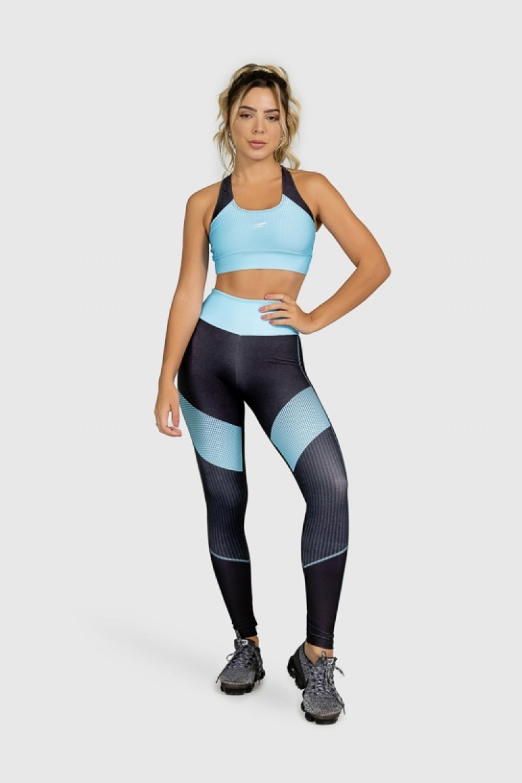 Top Nadador Fitness Estampa Digital Blue Points | Ref: GO277