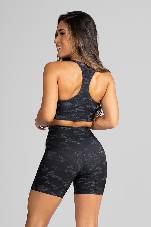 Top Nadador Fitness Estampa Digital Camouflaged Black | Ref: GO182-A
