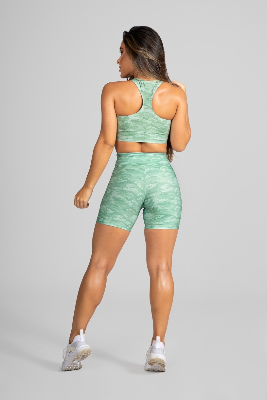 Top Nadador Fitness Estampa Digital Camouflaged Green | Ref: GO182-B