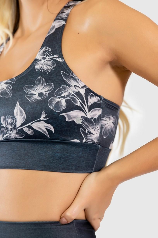 Top Nadador Fitness Estampa Digital Drawn Flowers | Ref: GO289