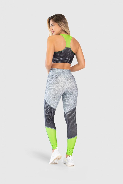 Top Nadador Fitness Estampa Digital Neon Light | Ref: GO238