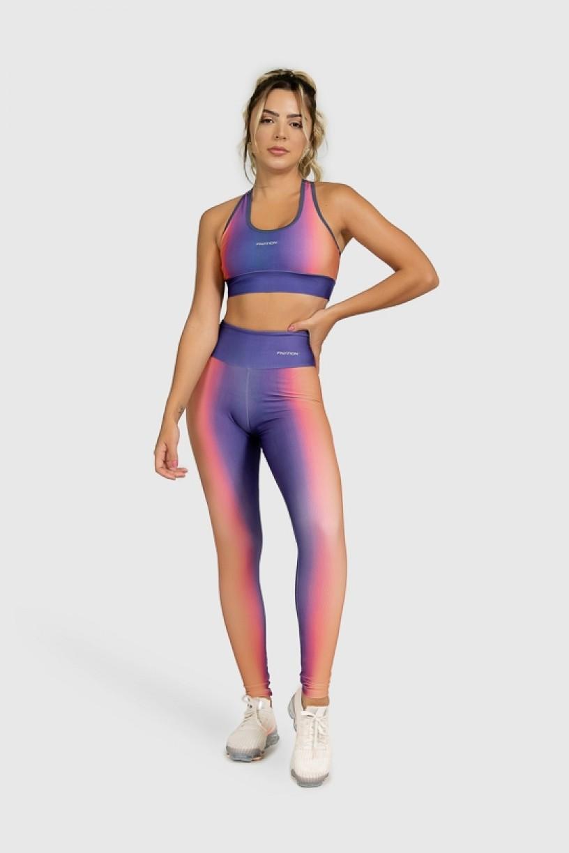 Top Nadador Fitness Estampa Digital Orange Boreal | Ref: GO382