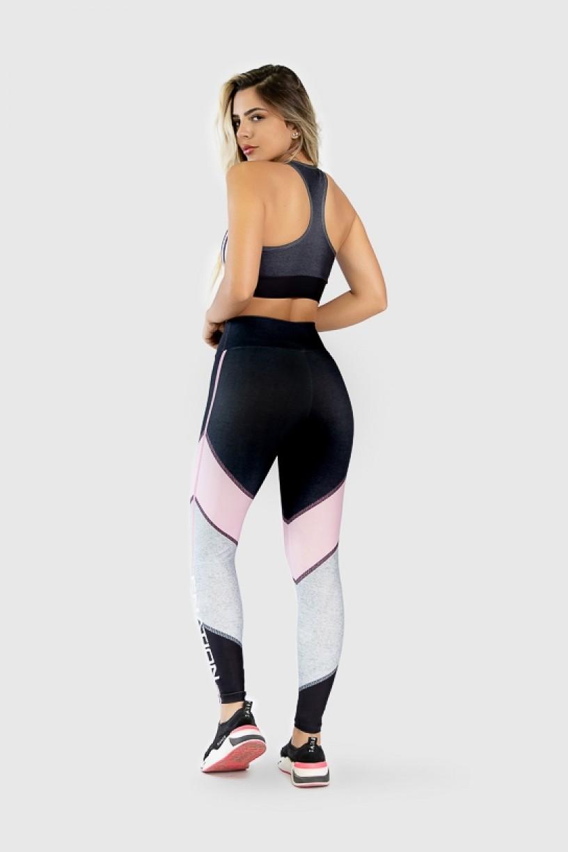 Top Nadador Fitness Estampa Digital Pink Arrow   Ref: GO273
