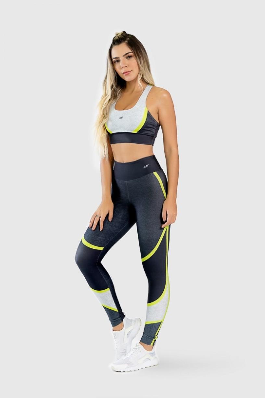 Top Nadador Fitness Estampa Digital Yellow Strings | Ref: GO264