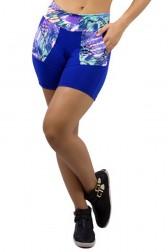 Bermuda Alicia Lisa com Cós e Bolso Estampados | Ref: KS-F407
