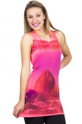 Vestido Visco Sublimado Fluor