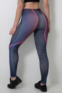 Calça Legging Sublimada Curved Lines    Ref: CAL363-041