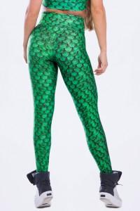 Calça Legging Sublimada Mermaid Green   Ref: K2497-A