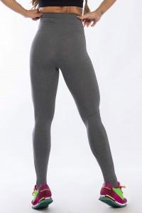 Calça Legging com Detalhe em Tule (Mescla)   Ref: K2428-D